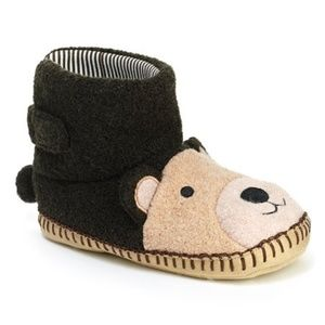 Hanna Andersson brown bear slippers size 9-10